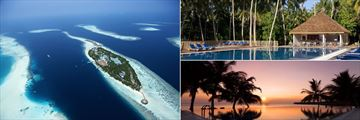 Vilamendhoo Island Resort & Spa, Aerial View of Island and Pool
