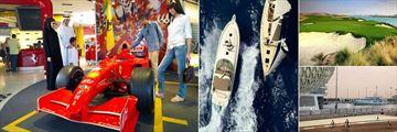 W Abu Dhabi, Yas Island, Ferrari World, Boating, Golf Course and On The Track