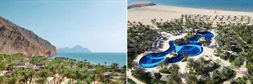 Waldorf Astoria Ras Al Khaimah & Six Senses Zighy Bay landscapes