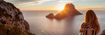 Watching the sunset at Es Vedra, Ibiza
