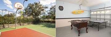 Windsor Palms Resort Homes, Basketball and Table Sport Games