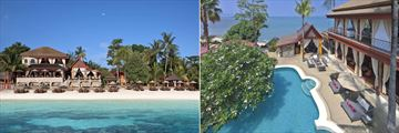 Zazen Boutique Resort, View from the Sea, Resort Pool and Zazen Restaurant