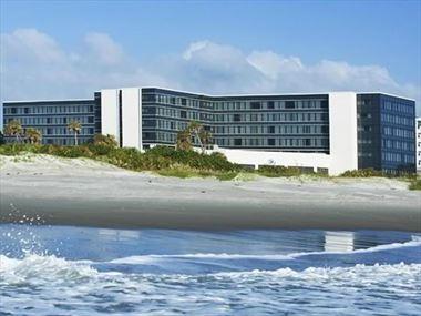 Hotel exterior from the sea, Hilton Cocoa Beach