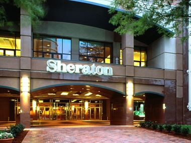 Hotel entrance, Sheraton Boston