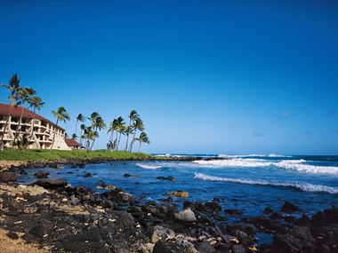 Exterior and beach, Sheraton Kauai