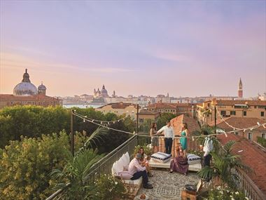 Rooftop terrace at Belmond Hotel Cipriani