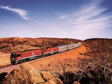 Experience a trip on board The Ghan