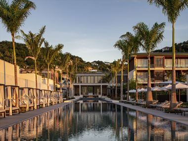 The main building and pool at Silversands Grenada