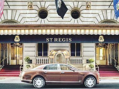 The St Regis New York offers a Bentley transportation service