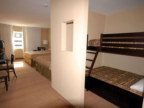 Family suite with bunk room