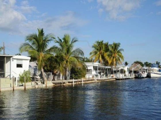 Houses waterside at Key largo