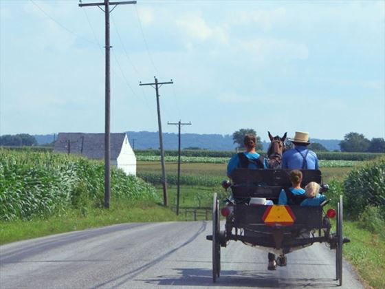 Amish family, Pensylvania, USA