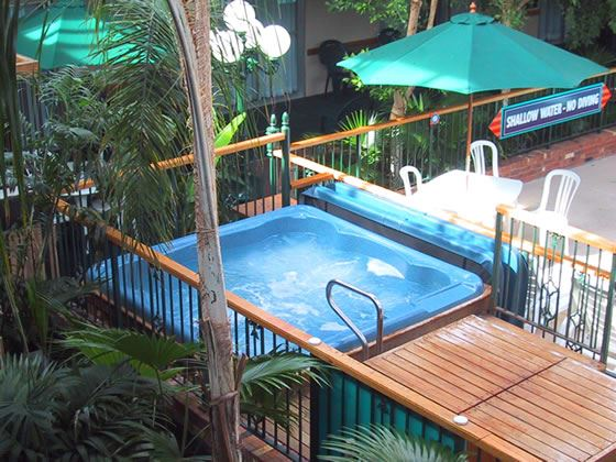 Courtyard hot tub
