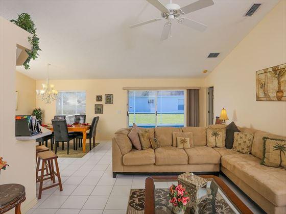 Typical Bradenton Sarasota Area Home - Living Area