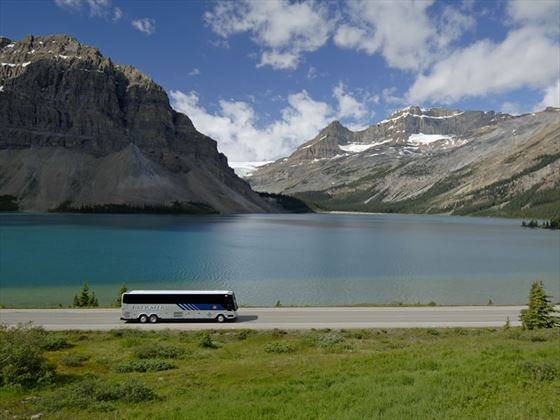 Brewster Bus, Bow Lake, Icefields Parkway, Banff National Park