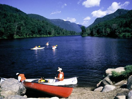 Canoeing in the Jacques-Cartier National Park