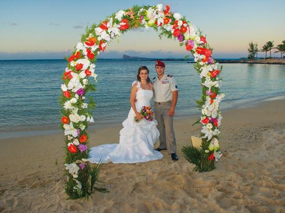 Glorious beach weddings at Canonnier Beachcomber Golf Resort & Spa