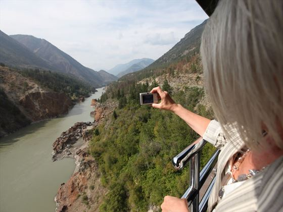 Capturing scenic shots from the Rocky Mountaineer