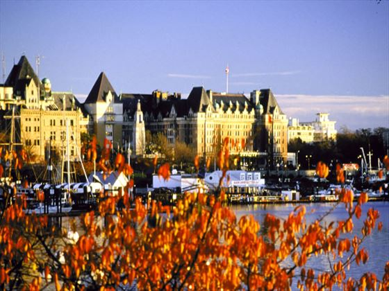 Empress Hotel in autumn, Victoria
