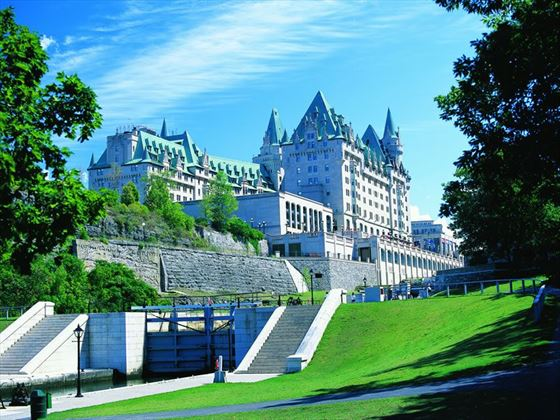 Chateau Laurier exterior from the Rideau Locks