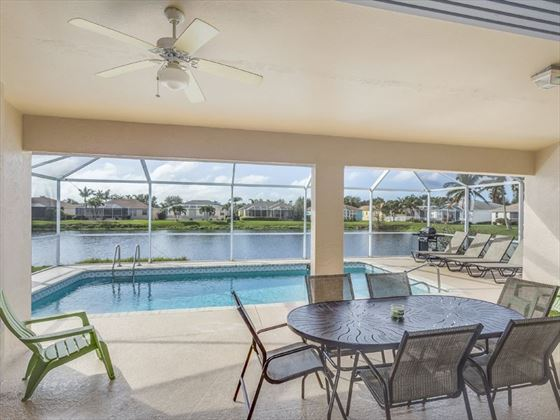 Example of a Fort Myers Area Home -  Private patio and pool