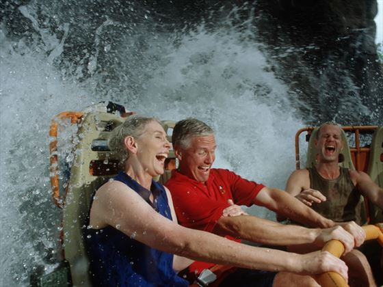 Guests on Kali River Rapids, Asia, Animal Kingdom