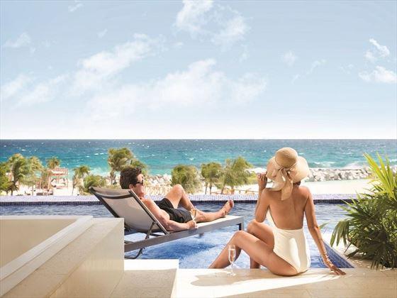 Swim up room at Hyatt Ziva Cancun