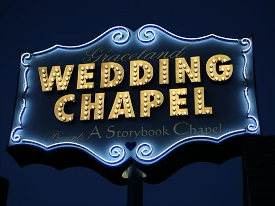 The famous Graceland Wedding Chapel