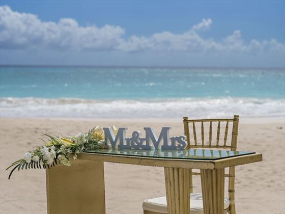 The new Mr & Mrs at Sea Breeze Beach House