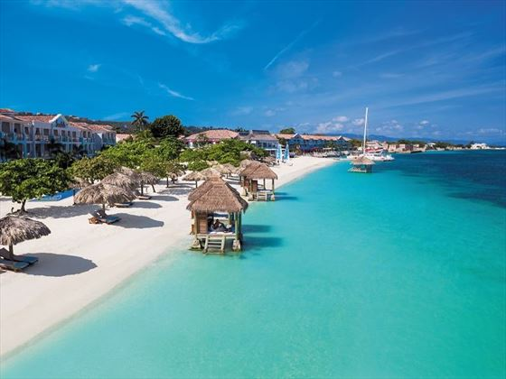 The beach at Sandals Montego Bay
