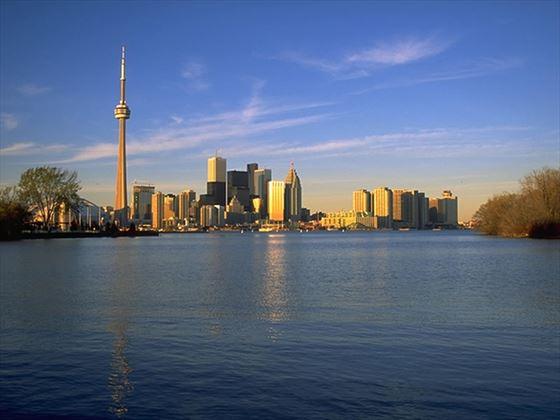 Toronto skyline across Lake Ontario