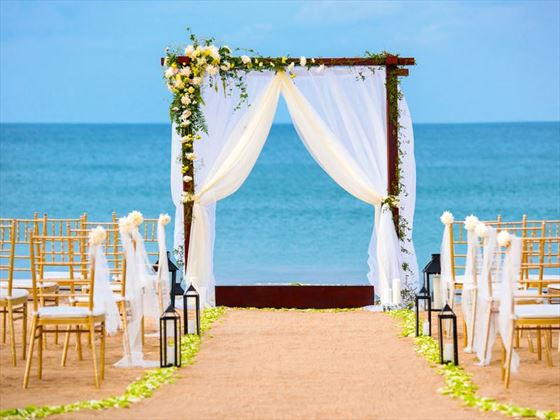 Beautiful wedding setting, Uga Jungle Beach