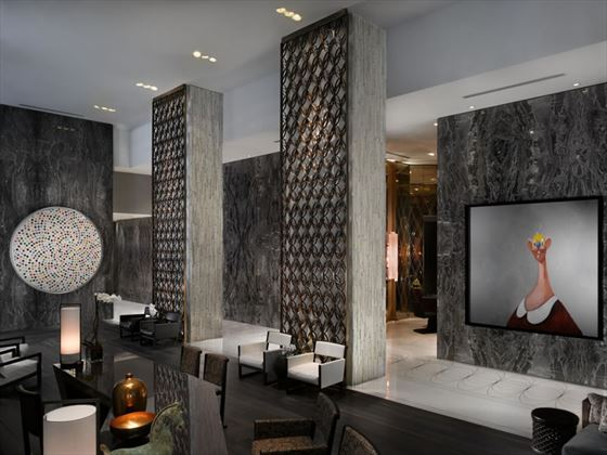 The lobby of the W