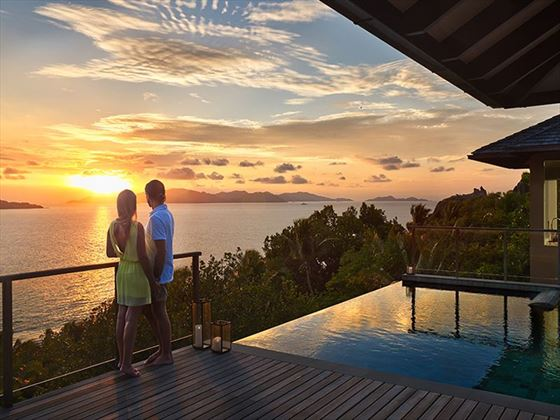 Sunset over Six Senses Zil Pasyon