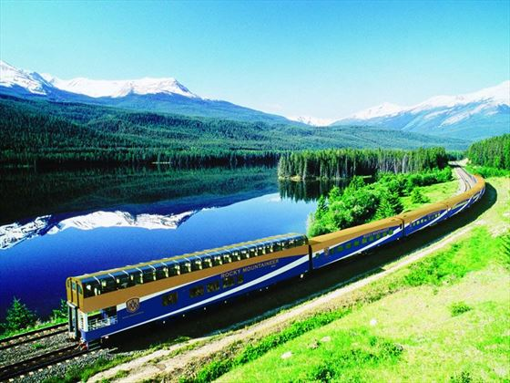 Yellowhead Lake, Alberta, Journey through the Clouds route, Rocky Mountaineer