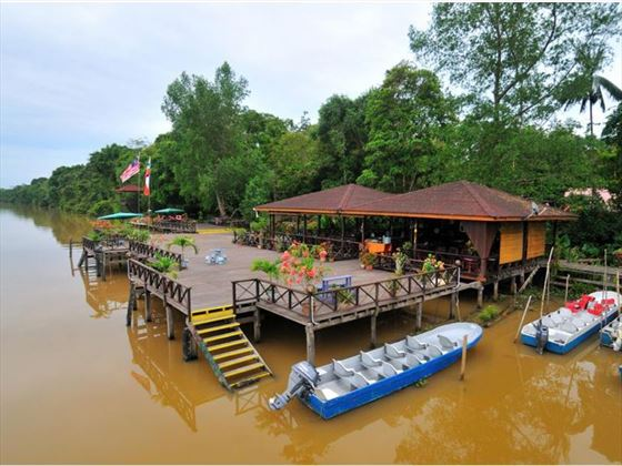 Jetty at Abai Jungle Lodge, Borneo
