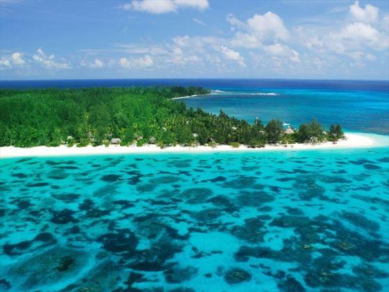 Aerial view of Denis Island