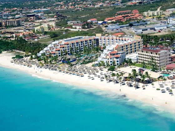 Aerial view of Aruba