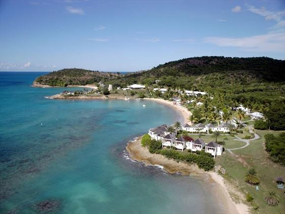 Aerial view of Hawksbill by rex resorts