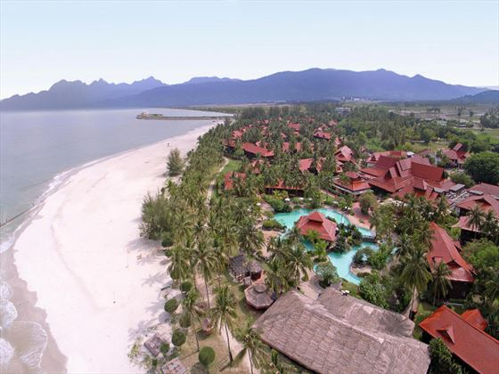 Aerial view of Meritus Pelangi Beach Resort & Spa
