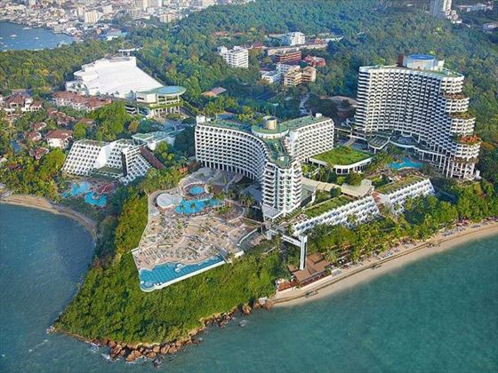 Aerial view of Royal Cliff Hotels Group