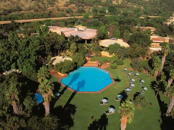 Aerial view of Sun City Cabanas