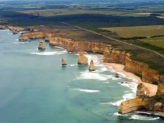 Aerial view of the Great Ocean Road