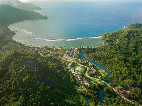 Aerial view of Mahe, Seychelles