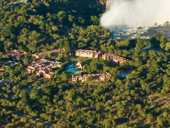 Aerial view of Zambezi Sun Hotel