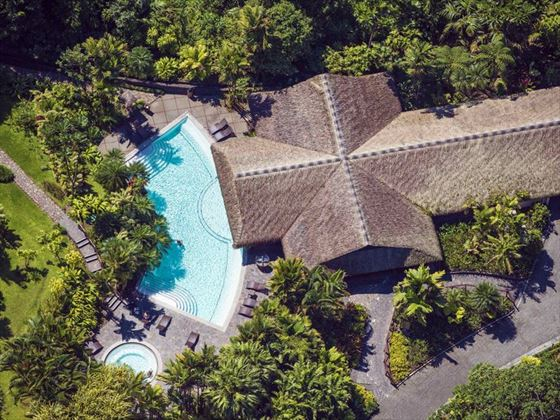 Aerial view of Tabacon Grand Spa Thermal Resort