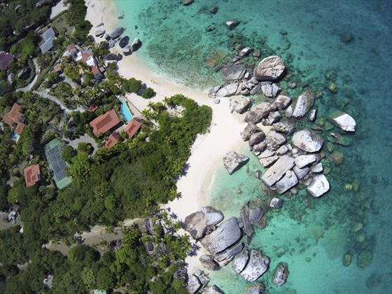 Aerial view of Virgin Gorda, BVI