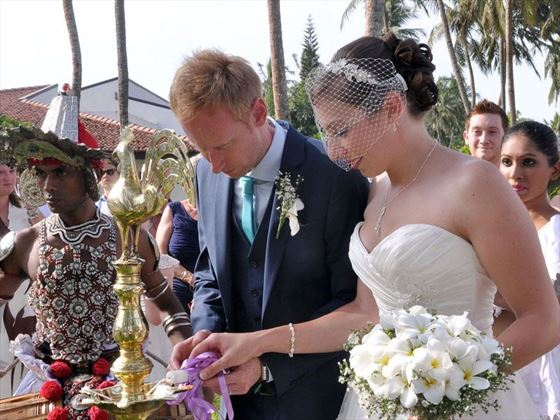 The traditional Sri Lanka wedding ceremony
