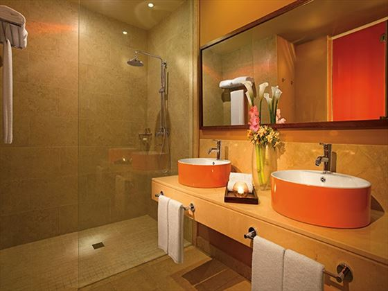 Allure Junior Suite bathroom at Breathless Punta Cana