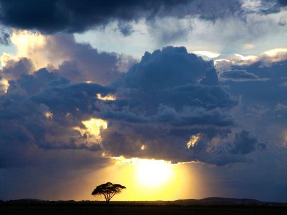 Amboseli National Park stormy sky